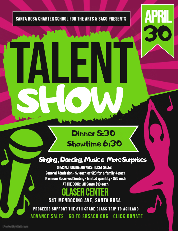 2019 Talent Show Flyer